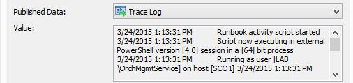 Logging values published by PowerShell script activity