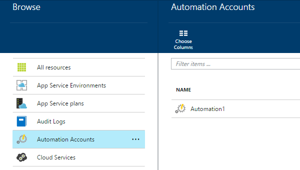 Create the Azure Automation account in your subscription
