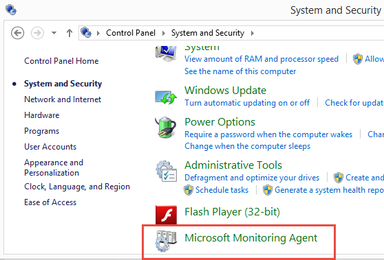 Microsoft Monitoring Agent appears in control panel on the Hybrid Runbook Worker server