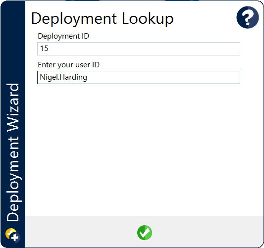 Simple WinPE dialog to begin deployment with minimal data entry