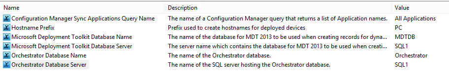 Orchestrator variables control runbook configuration