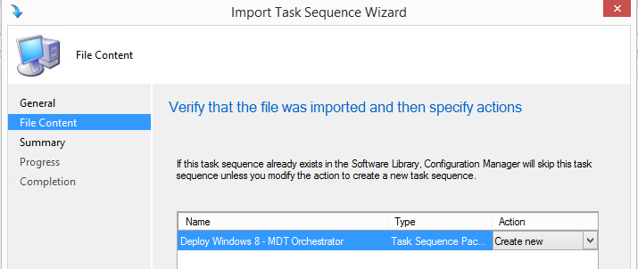 Importing example task sequence into Configuration Manager 2012
