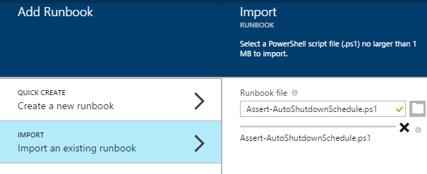 Import runbook from downloaded ps1 file
