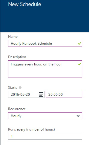 Creating a schedule for the runbook to check VM shutdown schedule tags