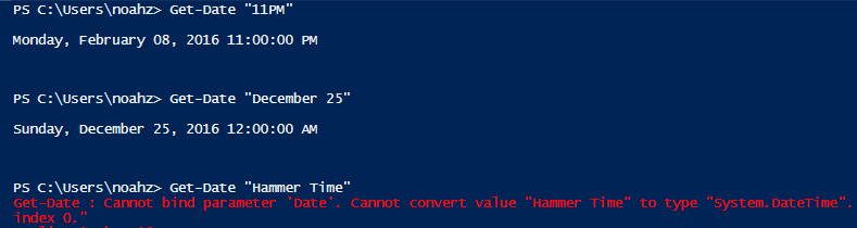 Testing schedule text. Somehow PowerShell doesn't know about Hammer Time.