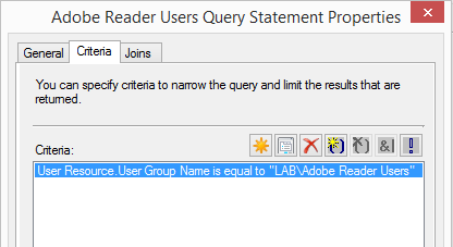 User Collection group membership query rule