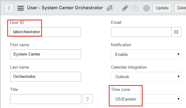 Creating ServiceNow account for Orchestrator access