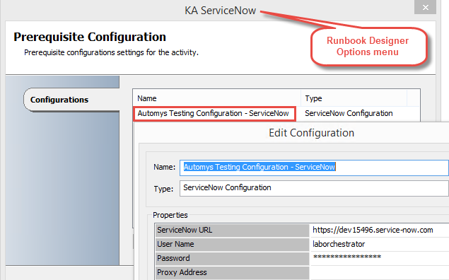 Configure Kelverion ServiceNow integration pack to connect to your instance