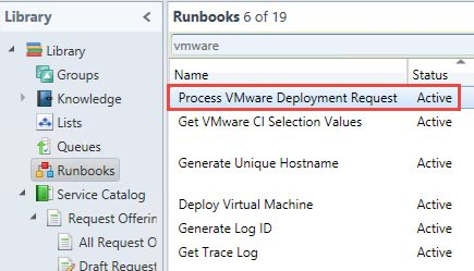 Synchronized runbook in Service Manager library