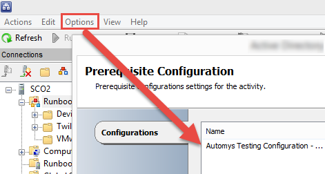 Configure the imported global configurations